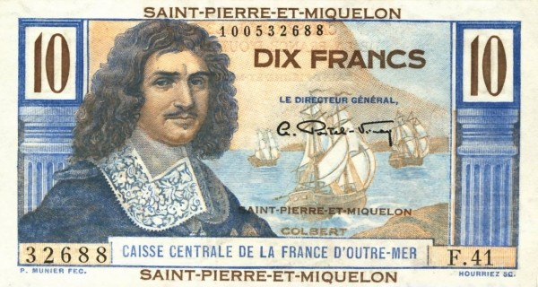Saint Pierre & Miquelon 10 Francs (1950-1960)