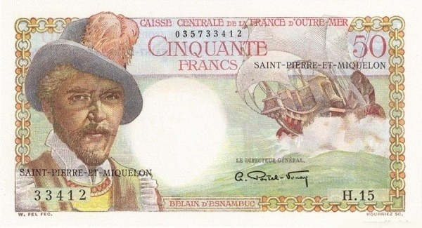 Saint Pierre & Miquelon 50 Francs (1950-1960)