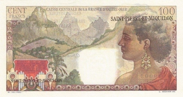 Saint Pierre & Miquelon 100 Francs (1950-1960)