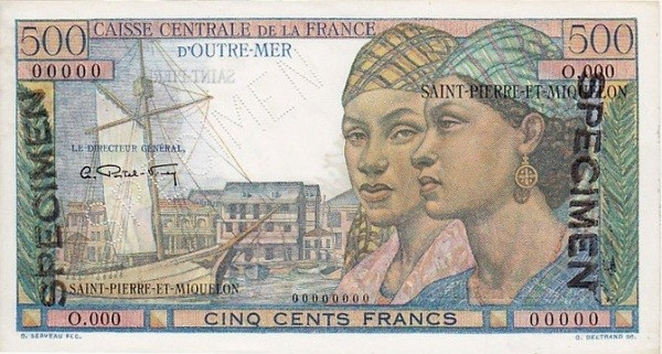 Saint Pierre & Miquelon 500 Francs (1950-1960)