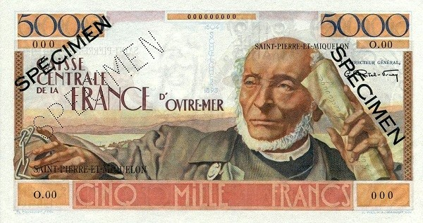 Saint Pierre & Miquelon 5000 Francs (1950-1960)