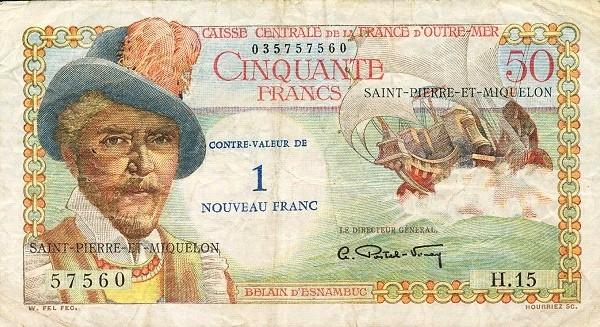 Saint Pierre & Miquelon 1 Nouveau Franc (1961-1964)