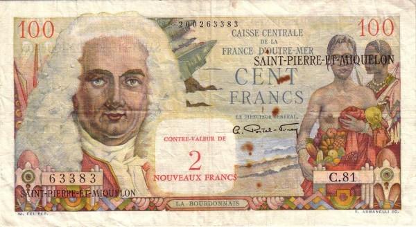 Saint Pierre & Miquelon 2 Nouveaux Francs (1961-1964)