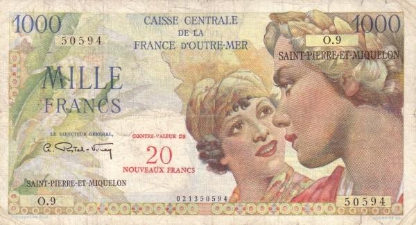 Saint Pierre & Miquelon 20 Nouveaux Francs (1961-1964)