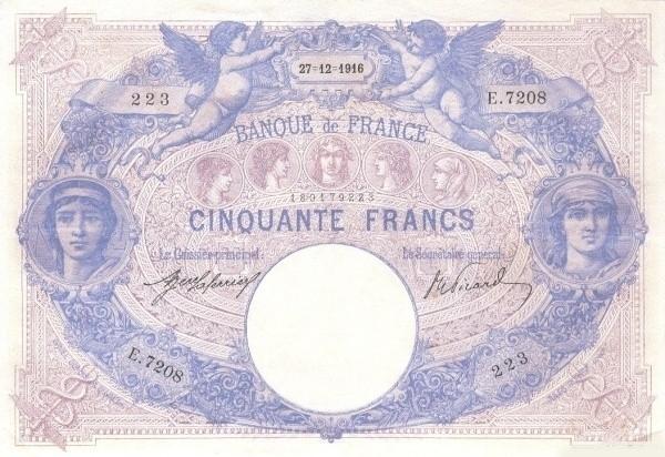 France 50 Francs (1888-1937)