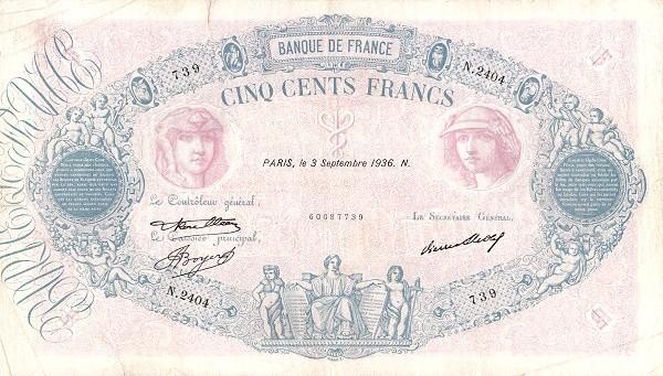 France 500 Francs (1888-1937)