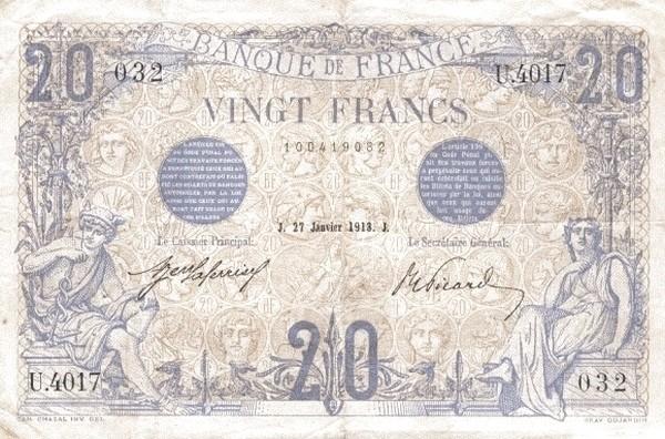 France 20 Francs (1906-1913)