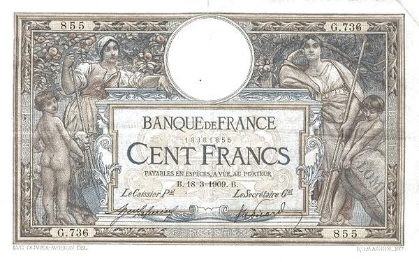 France 100 Francs (1906-1913)