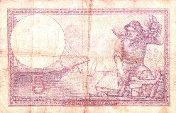 France 5 Francs (1916-1937)