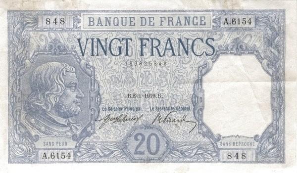 France 20 Francs (1916-1937)