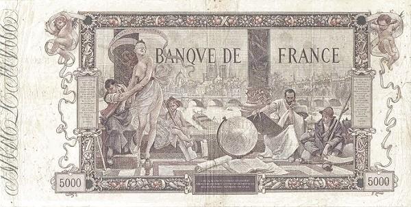 France 5000 Francs (1916-1937)