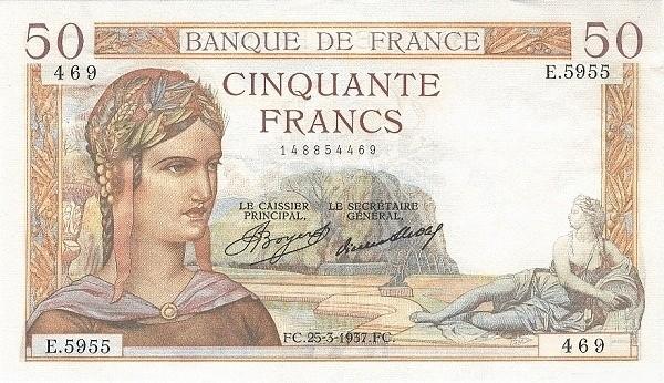 France 50 Francs (1934-1937)