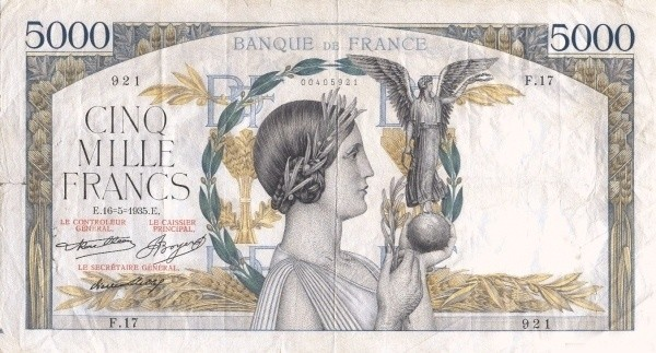 France 5000 Francs (1934-1937)