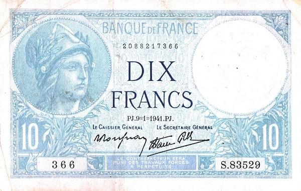 France 10 Francs (1937-1942)