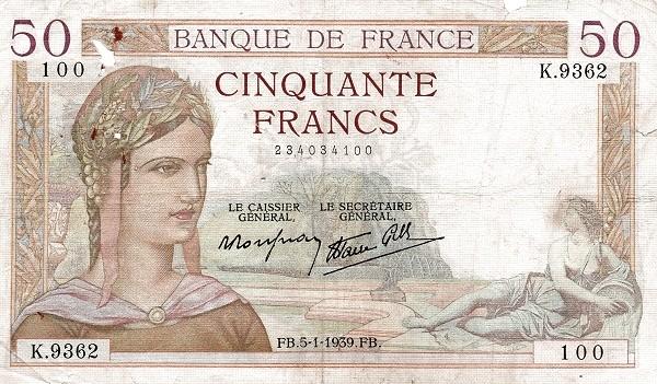 France 50 Francs (1937-1942)