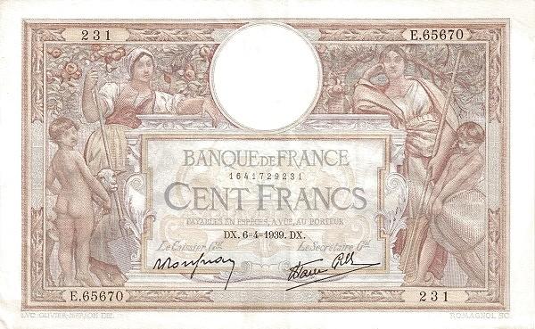 France 100 Francs (1937-1942)