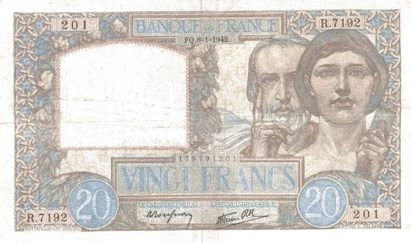 France 20 Francs (1939-1945)