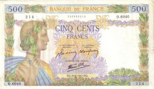 France 500 Francs (1939-1945)