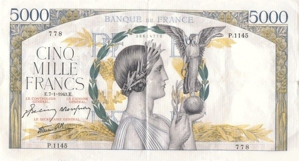 France 5000 Francs (1939-1945)
