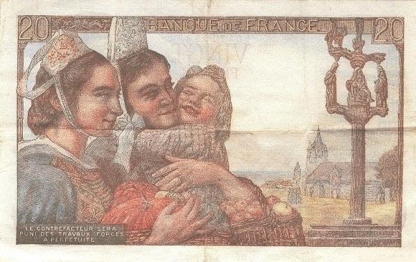 France 20 Francs (1941-1950)