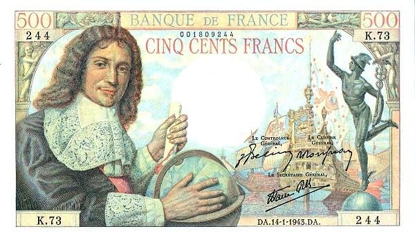 France 500 Francs (1941-1950)