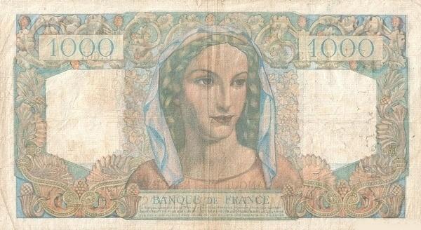 France 1000 Francs (1945-1957)