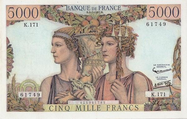 France 5000 Francs (1945-1957)
