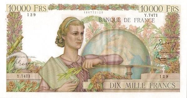 France 10000 Francs (1945-1957)