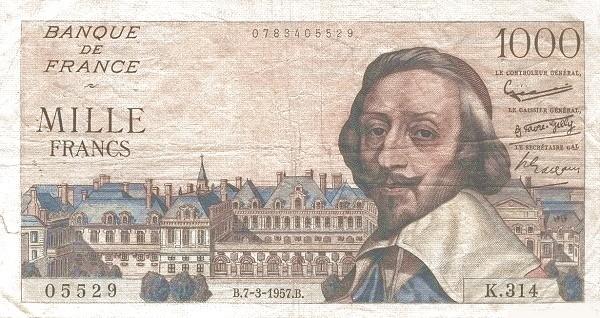 France 1000 Francs (1953-1958)