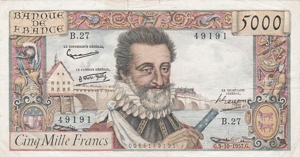 France 5000 Francs (1953-1958)