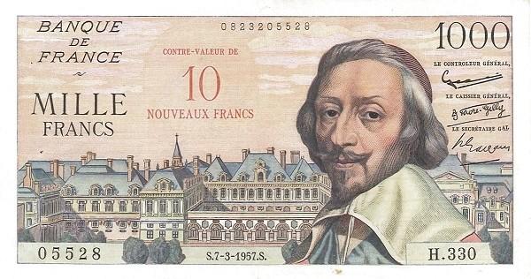 France 10 Nouveaux Francs (1958 Côntre-Valeur Provisional Nouveaux Francs)