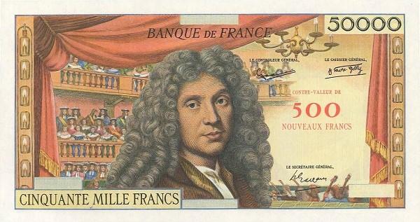 France 500 Nouveaux Francs (1958 Côntre-Valeur Provisional Nouveaux Francs)