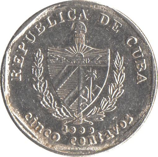 Cuba Convertible 5 Centavos