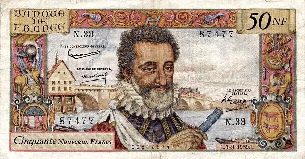 France 50 Nouveaux Francs (1959-1966)
