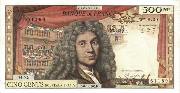 France 500 Nouveaux Francs (1959-1966)