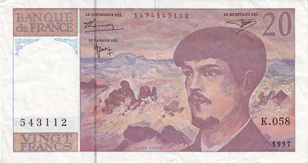 France 20 Francs (1968-1997)