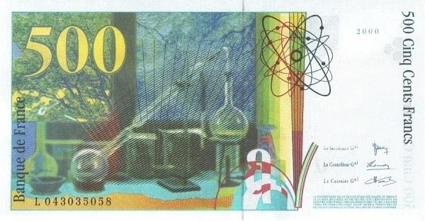 France 500 Francs (1993-2000)