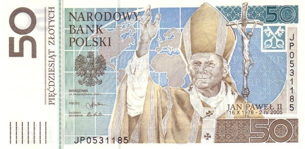 Poland 50 Zloty (Pope John Paul II)