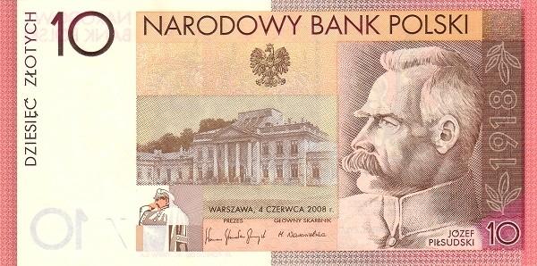 Poland 10 Zloty (Jozef Pilsudski)
