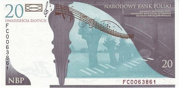 Poland 20 Zloty (Fryderyk Chopin)
