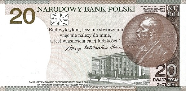 Poland 20 Zloty (Marie Curie)