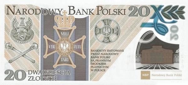 Poland 20 Zloty (100th Anniversary of Polish Legion)