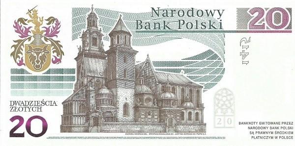 Poland 20 Zloty (Jan Dlugosz)