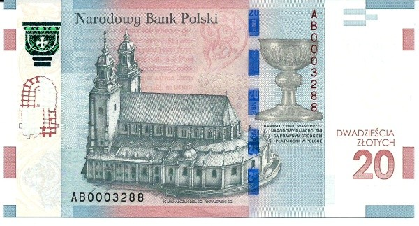 Poland 20 Zloty (1050th Anniversary of Baptism of Poland)