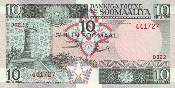 Somalia 10 Shillings (1983-1996)
