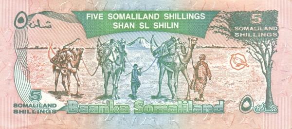 Somaliland 5 Shillings (1994-2011)