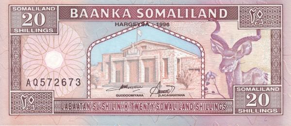Somaliland 20 Shillings (1994-2011)