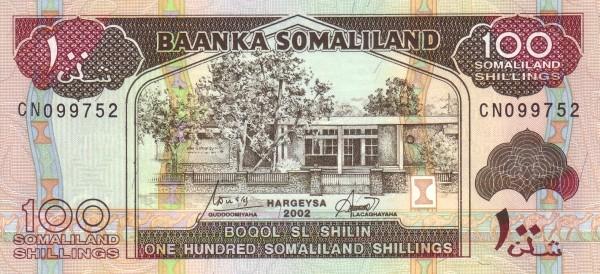 Somaliland 100 Shillings (1994-2011)