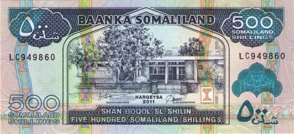 Somaliland 500 Shillings (1994-2011)