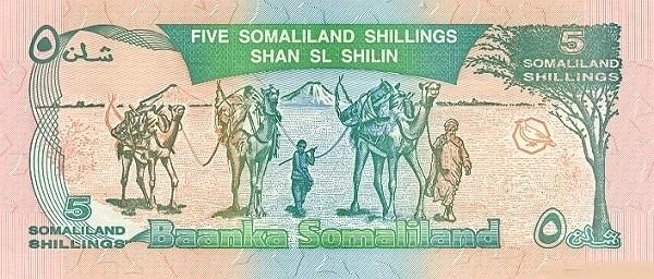 Somaliland 5 Shillings (1996 Bronze Commemorative)